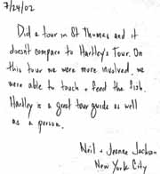Testimonial of Bermuda visitor Neil and Jeanne