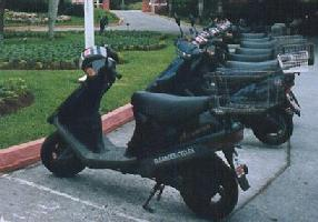 Pictures of Bermuda mopeds