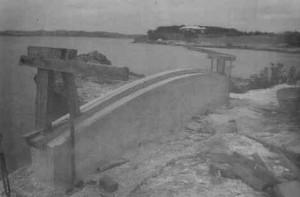 Bending planks to build boats in Bermuda.