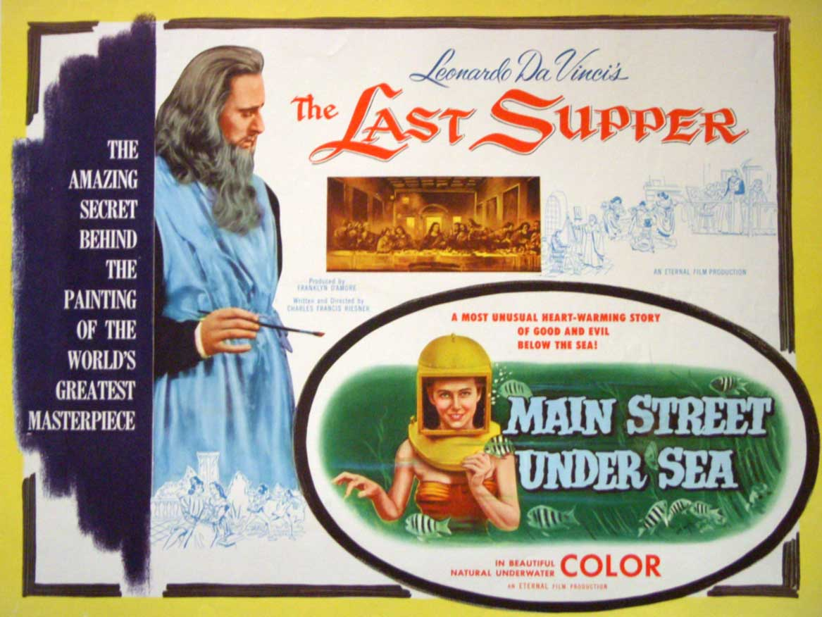 Poster promoting the film Main Street Under Sea