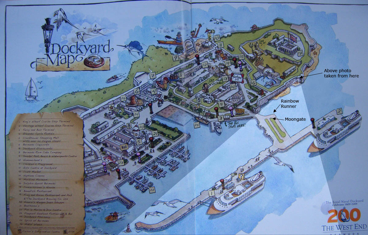 Photo of Experience Bermuda map of Dockyard