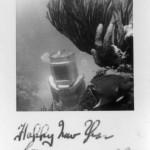 1930's helmet diving new years card