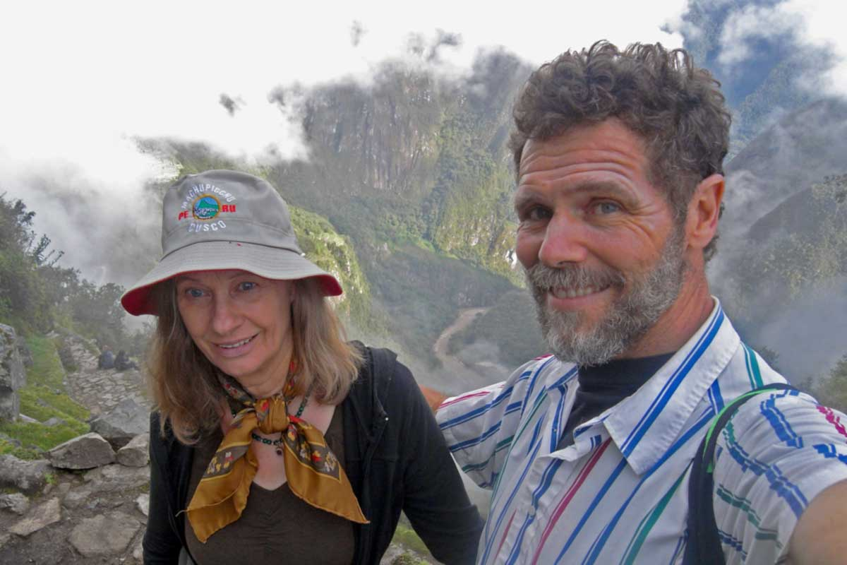 Greg and Lynda Hartley on vacation in Peru 2012
