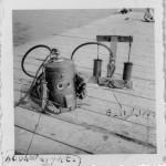 Early Bronson-built helmet and pump.