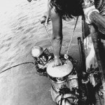 Image of Bronson and Martica Hartley conducting helmet diving in Harrington sound , Bermuda