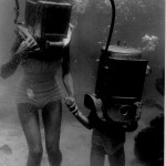 Mother and child Hartley helmet divers late 1940's