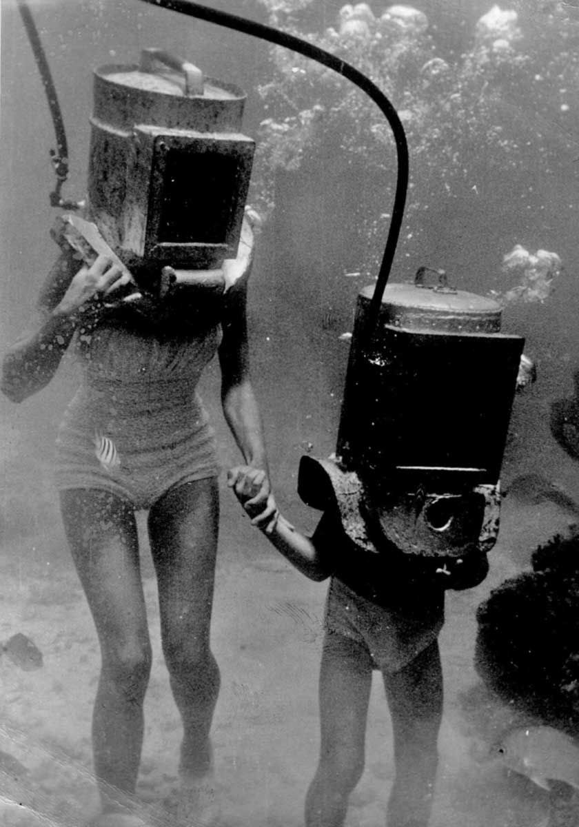 Consider, that 1940s vintage deep sea divers due time