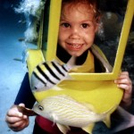 Daughter of Hartley's Helmet Diving's owners at age 3 1/2