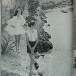 Two young women pose in Bermuda for Town and Country