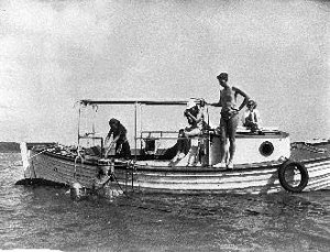 """The """"Ark"""" Bronson Hartley's first boat"""