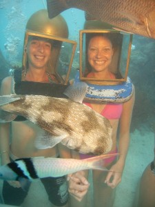 ET and helmet divers