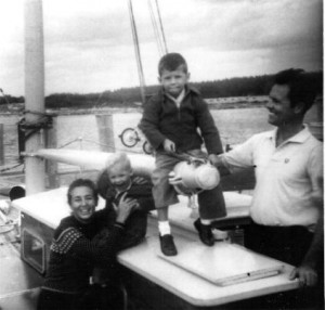 Bronson Hartley and his family in Nassau Bahamas 1960.