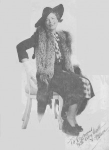 Gladys Hartley in NewYork during the 20's