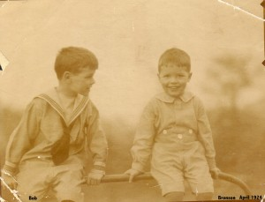 Bob and Bronson Hartley in New York,1924