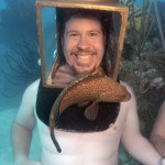 Bermuda hind and helmet diver
