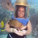 Holding fish in Bermuda